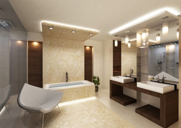 Какое освещение выбрать для ванной комнаты и как его реализовать