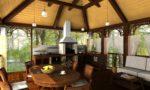 Летняя кухня на даче с барбекю мангалом: как построить