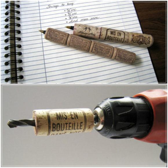 ручки из пробок