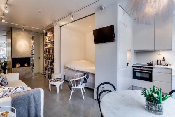 Интересные идеи как организовать пространство квартиры-студии