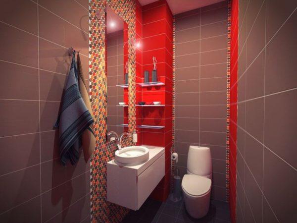 Секреты интерьера маленького туалета