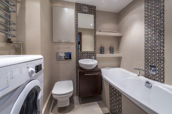Ванная 4 кв.м. в современном стиле