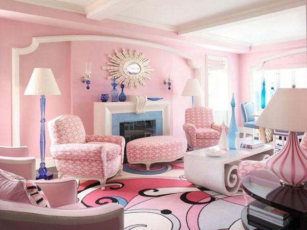 Розовый цвет в интерьере - как не наделать ошибок?