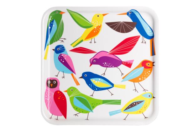 Поднос, птица, 33x33 см - 299 руб