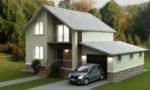 Новые и интересные проекты домов с гаражом