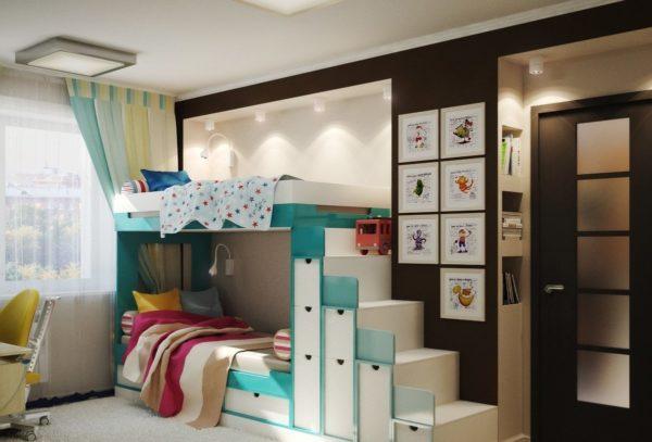 20 идей оформления детской комнаты для двоих