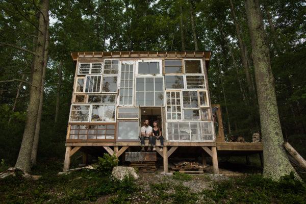 Дом из старых окон, США