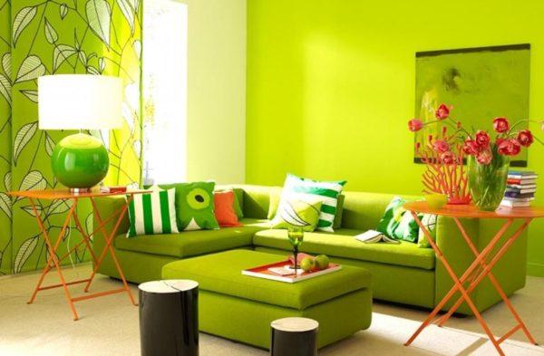 Зелёный цвет в интерьере - правила сочетания
