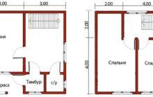 Дом 6 на 6 Двухэтажный