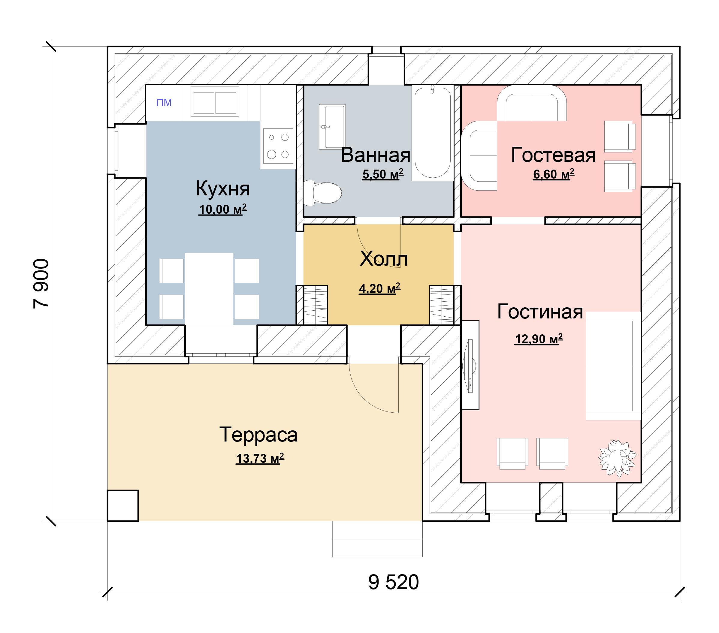 Проекты Домов До 50 м2