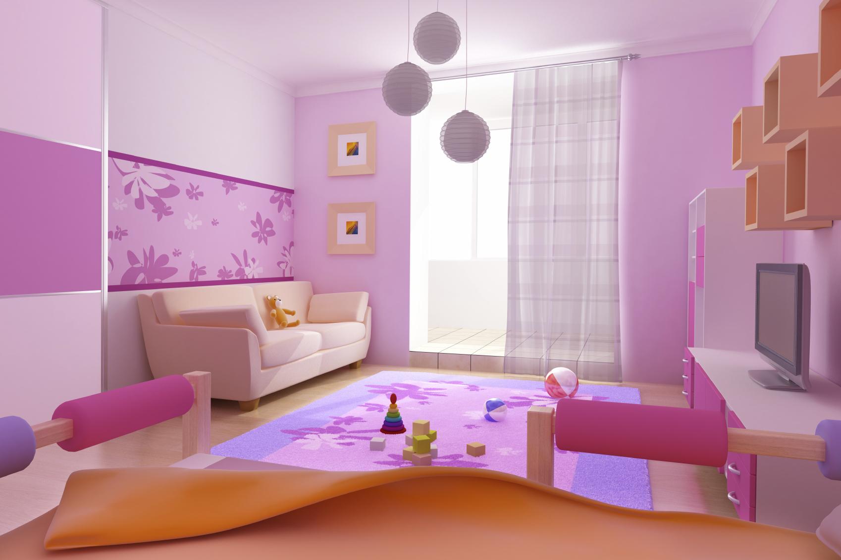 Как окрасить детскую комнату