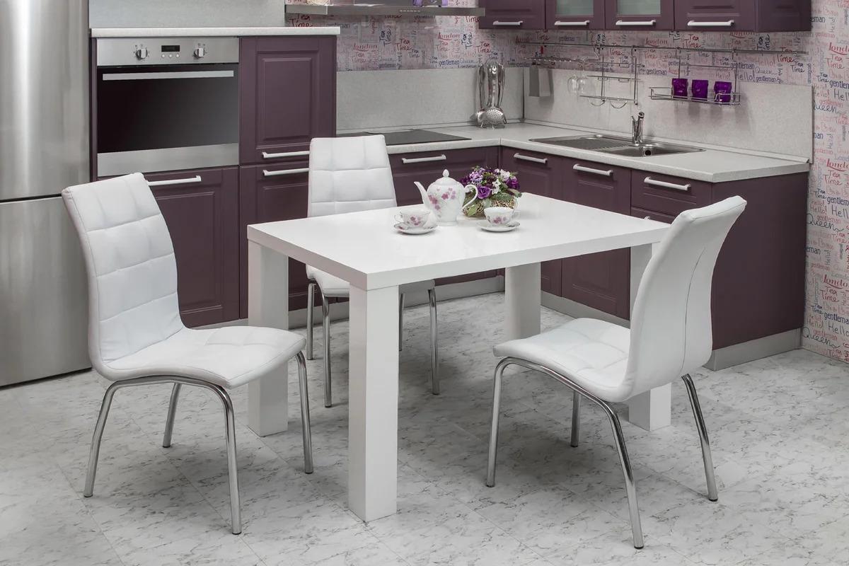 Как подобрать стол и стулья к кухонному гарнитуру: фото, практические советы